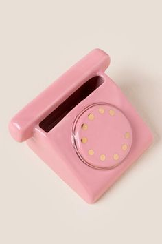 Lets Chat Pink Telephone Post It Holder