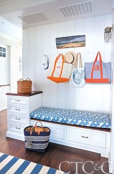 A Former Working Oyster House Transforms into a Sublime Showstopper on Rowayton's Five Mile River - Connecticut Cottages & Gardens - September 2014 - Connecticut House Of Turquoise, Coastal Living, Coastal Decor, Nautical Interior, River Cottage, Art Deco Home, Waterfront Homes, Beach Cottages, White Decor
