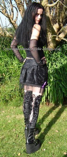 Moonmaiden Gothic Clothing - Fairy Net Mini Skirt
