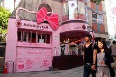 Hello Kitty Cafe in Hongdae, Seoul