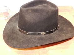 Eddy Brothers Black Pinch Front 2X Fur Blend cowboy Hat Size 7 3 8 00817 51090d4611d5