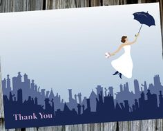 Mary Poppins Bridal Shower Thank You Card! Super cute! Check it out!