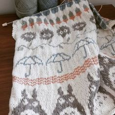 Totoro Baby blanket knitting project by Annie H | LoveKnitting