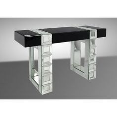 Perry Contemporary Mirrored Console Table -