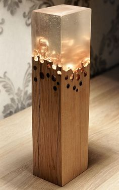 Wood and Resin lamp - Epoxy Resin