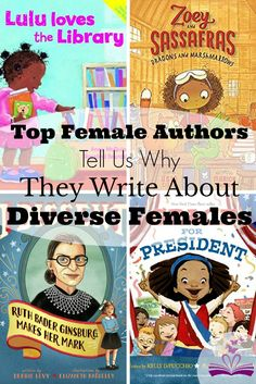 Top female authors Kelly DiPucchio, Anna McQuinn, Debbie Levy, and Asia Citro tell us about the diverse females in their award-winning children's books.