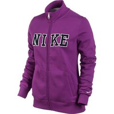 NIKE CLASSIC FLEECE TRACK JACKET WOMENS  M -- To view further for this item, visit the image link.