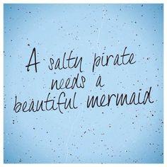 A salty pirate needs a beautiful mermaid. Always. #finfun #mermaids #mermaidtail www.finfunmermaid.com