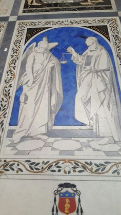 Gorgeous cript covers at the Cathedral Mdina.