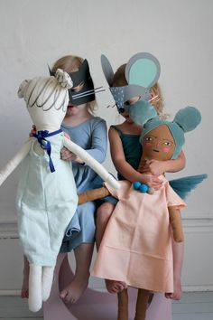 paper masks and playful dolls | mer mag