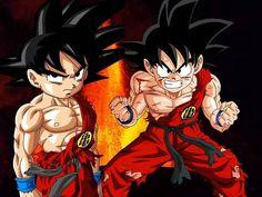 Kid Goku in action.