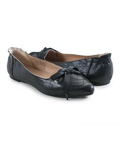 Another great find on #zulily! Crowne Comforteur Black Bay Leather Flat by Crowne Comforteur #zulilyfinds