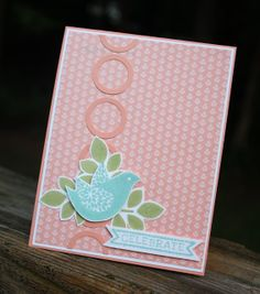 "Betsy's blossoms ; Itty bitty banners ; Bitty banners framelits ; Little leaves sizzlet ; 3/4"" circle punch ; 1"" Circle punch"
