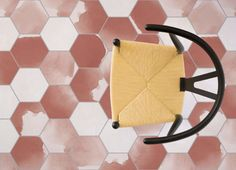 Coffee Watercolour Hexagon Tile Flooring Room