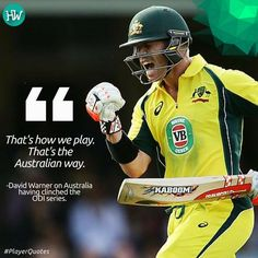 David Warner is mighty happy with his team's performance! #SLvAUS #cricket