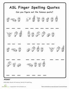 Sign Language Worksheets For Kids #5 | sign language | Pinterest ...