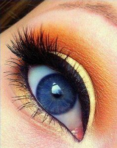 Beste Orange Eye Makeup-Ideen und Tutorials Beste Orangenauge Make-up Ideen und Tutorials Makeup Geek, Love Makeup, Skin Makeup, Makeup Brushes, Makeup Tips, Beauty Makeup, Makeup Looks, Stunning Makeup, Makeup Addict