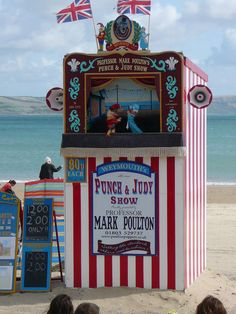 'Punch & Judy' Show, Weymouth Beach. Wonderful childhood memories of watching Punch and Judy on the beach