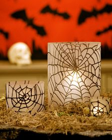 glittered spiderweb hurricanes
