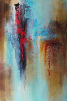 """Contemporary Painting - """"Red Canyon"""" (Original Art from Karen A. Taddeo)"""