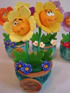 *POLYMER CLAY, cute for spring craft show