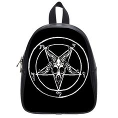 Hey, I found this really awesome Etsy listing at https://www.etsy.com/listing/198475705/pentagram-goat-skull-back-to-school