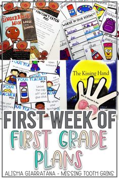 First Day First Grade, First Grade Themes, First Grade Lessons, First Grade Teachers, First Grade Classroom, Future Classroom, Kissing Hand Activities, 1st Grade Activities, First Day Of School Activities