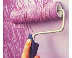 Get creative with a paint roller   DIY Home Decor Ideas on a Budget   Click for Tutorial   DIY Home Decorating on a Budget