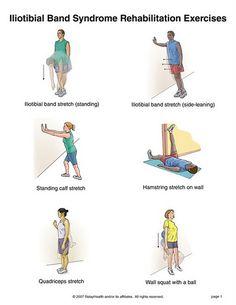 it band strengthening exercises Iliotibial Band Stretches, It Band Stretches, Stretches For Runners, Itb Band Syndrome, Iliotibial Band Syndrome, Hip Strengthening Exercises, Stretching Exercises, Pilates, Band Workouts