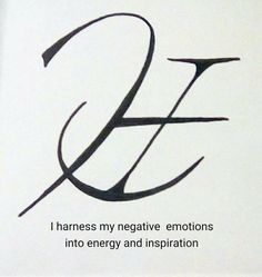 I harness my negative emotions into energy and inspiration