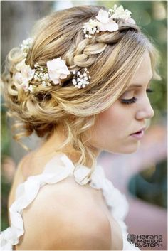 hippie wedding hairstyles | The Hottest Wedding Hairstyle Trend on Pinterest: Flowers