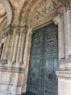 Magnificent door, detail, Sacré Coeur, Paris