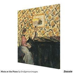 Misia at the Piano Canvas Print