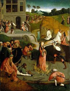 Martyrdom of St Lucy by Unknown master:  O Lord, may the intercession of They Virgin and Martyr St Lucy help us so that as we celebrate her heavenly birthday on earth we may contemplate her triumph in heaven Amen.