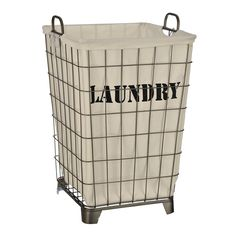 Decorative Laundry Hamper Cheap & Chic How To Make A Frenchvintageinspired Wire Hamper
