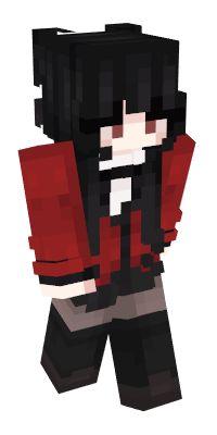 Minecraft Skins Emo, Minecraft Anime Girls, Minecraft Skins Aesthetic, Minecraft Seed, Cool Minecraft, Minecraft Designs, Minecraft Ideas, Minecraft Outfits, Minecraft Houses
