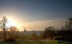 Norwich Sunset  Norwich from Mousehold Heath, Norwich, Norfolk, England