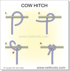 The #CowHitch knot is used to attach rope to an object, and one of the most basic knots to have in your repertoire. #KnowYourKnots