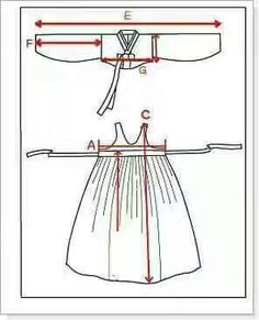 Risultati immagini per hanbok tutorial Korean Traditional Clothes, Traditional Fashion, Traditional Dresses, Doll Dress Patterns, Clothing Patterns, Sewing Patterns, Sewing Clothes, Diy Clothes, Mode Ulzzang