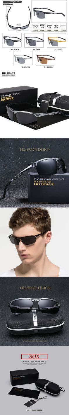 HD.SPACE Fashion Polarized Sunglasses Men Original Brand Designer Sun Glasses man women Polaroid Gafas De Sol Vintage Oculos