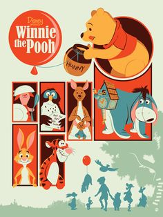 Winnie the Pooh Poster by Dave Perillo