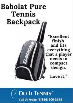"""Babolat Pure Tennis Backpack Review """"Excellent finish and fits everyhing thag a player needs in a compact design. Love it."""" - Racquet compartment holds up to 2 racquets with a racquet protection sleeve for 1 racquet - Large main compartment for towel, shoes and a change of clothes #babolat #tennis #tennisbag Babolat Tennis, Tennis Bags, Backpack Reviews, Back Strap, Compact, Towel, Change, Backpacks, Pure Products"""
