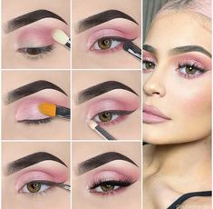 How to apply Natural Eye Makeup Tip Step By Step. Know How To Make Up Eyes . - How to apply Natural Eye Makeup Tip Step By Step. Know how to apply eye makeup step by step. Makeup Tips Step By Step, Makeup Tips For Beginners, Kylie Jenner Makeup Step By Step, Beginner Makeup, Kylie Jenner Makeup Tutorial, Eyeshadow Step By Step, Natural Eye Makeup Step By Step, Beautiful Eye Makeup, Dramatic Makeup