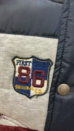 Varsity applique badge boys clothing
