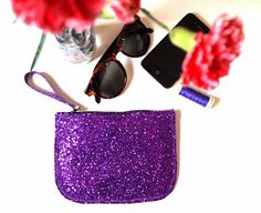 DIY - Glitter purse and kit - How to make a purse