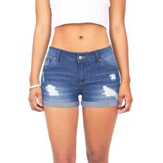 Hollister Embroidered High-Rise Denim Vintage Shorts ($27 ...