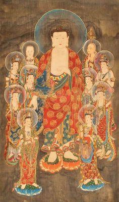 Amitabha Buddha, Dunhuang, Thangka Painting, Buddha Art, Religious Art, Ancient Art, Traditional Art, Asian Art, Art Drawings