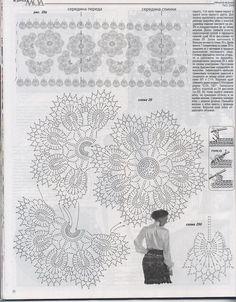 "Photo from album ""Журнал мод on Yandex. Russian Crochet, Irish Crochet, Crochet Motif, Crochet Flowers, Crochet Numbers, Zhurnal Mod, Irish Traditions, Crochet Magazine, Irish Lace"