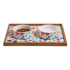 Ali Benyon Bed Of Flowers Pet Bowl and Tray | DENY Designs Home Accessories