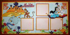 Faith Abigail Designs - Aladdin 12x12 Double Scrapbook Layout